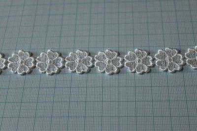 画像2: 3m!幅1.9cm小花のケミカルレース オフホワイト