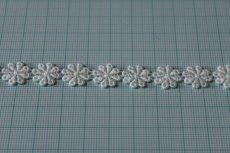 画像3: 4m!幅1.1cm小花柄綿ケミカルレース オフホワイト (3)