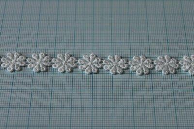 画像1: 3m!幅1.1cm小花柄綿ケミカルレース オフホワイト