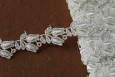 画像2: ケミカルレース オフホワイト 幅1.6cmスズラン柄 3m巻! (2)