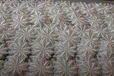 画像5: 25枚!幅3.8cm光沢のある花柄ケミカルレース オフホワイト (5)