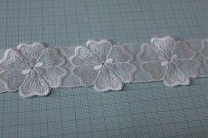 画像4: 15枚!幅4.9cmお花モチーフ綿レース ホワイト (4)