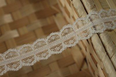 画像1: 5m!幅2cm両山スカラの綺麗なラッセルレース オフホワイト