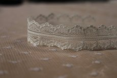 画像4: 5m!幅2cm両山スカラの綺麗なラッセルレース オフホワイト (4)