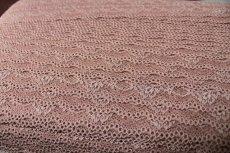 画像5: 30m!幅3cm綺麗な薔薇柄ラッセルストレッチレース ブラウン (5)