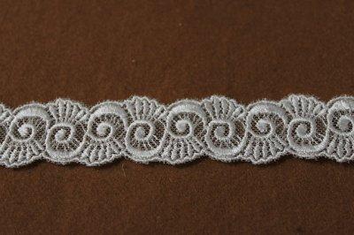 画像2: チュールレース オフホワイト 幅2.6cmうずまき柄 6m巻!