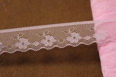 画像5: 5m!幅1.8cm小花柄ラッセルレース 可愛いピンク (5)