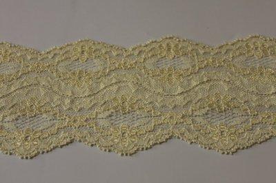 画像2: 150円!3m!幅8cm綺麗な花柄ラッセルストレッチレース 黄色
