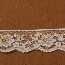 画像3: 5m!4.4cm小花柄ラッセルレース 金ラメ/ホワイト (3)