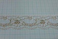 画像3: 5m!3.4cm花柄ラッセルレース 金ラメ/ホワイト (3)