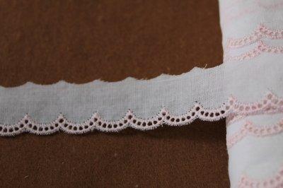 画像2: 3m!幅2cm!可愛いスカラの綿レース ホワイト/ピンク