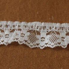 画像1: ラッセルフリルレース オフホワイト 5m!2.7cm小花柄 日本製 (1)
