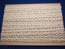 画像4: リボンと小花柄ケミカルレース ホワイト  幅1cm 3m巻 (4)