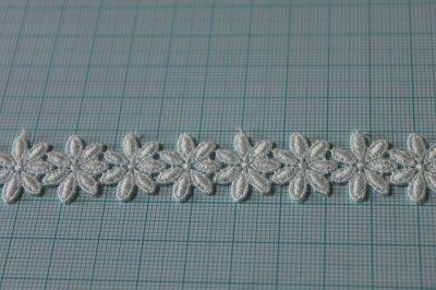 画像1: 3m!幅1.9cm可愛い小花柄綿ケミカルレース オフホワイト