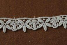 画像2: 3m!幅2.2cm綺麗な花と葉柄綿ケミカルレース オフホワイト (2)