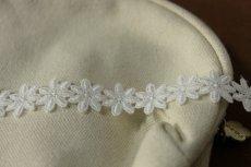 画像4: 3m!幅1.9cm可愛い小花柄綿ケミカルレース オフホワイト (4)