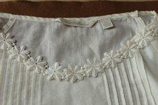 画像5: 1m!幅2.5cm綺麗な花柄綿ケミカルレース オフホワイト (5)