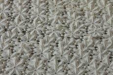 画像7: 1m!幅2.5cm綺麗な花柄綿ケミカルレース オフホワイト (7)