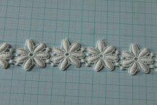 画像3: 1m!幅2.5cm綺麗な花柄綿ケミカルレース オフホワイト (3)