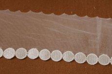画像4: 6m!幅7.8cmサークル柄の綺麗なチュールレース ホワイト (4)