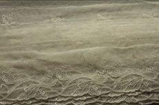 画像7: 3m!幅7.2cm綺麗な葉っぱ柄チュールレース オフホワイト  (7)