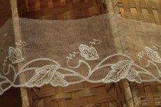 画像6: 3m!幅7.2cm綺麗な葉っぱ柄チュールレース オフホワイト  (6)