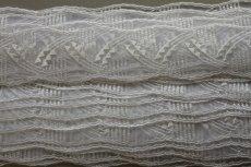 画像6: 6m!幅5cm幾何学模様みたいなチュールレース ホワイト  (6)