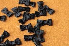 画像4: 10個セット!幅2.2cmリボンモチーフ ブラック ハンドメイドに (4)