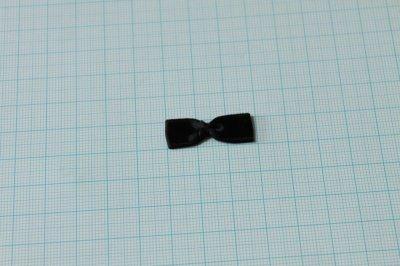 画像2: 10個セット!幅3cmリボンモチーフ 黒 ハンドメイドに