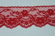 画像3: 5m!幅7.5cm綺麗な薔薇柄ラッセルレース 赤 (3)