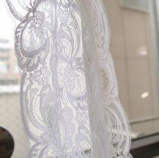 画像4: 1m!幅14.3cmフランス製リバーレース ホワイト ウエディングベールに (4)