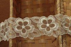 画像4: 15枚!幅4.2cm花柄チュールレース オフホワイト モチーフにも (4)