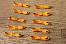 画像4: 10個セット!幅3.3cmリボンモチーフ オレンジ ハンドメイドに (4)