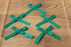 画像4: 5個セット!幅9.9cmリボンモチーフ エメラルドグリーン ハンドメイドに (4)