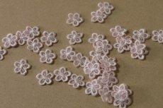 画像5: 15個セット!幅1.2cm小花柄ケミカルモチーフ ピンク アクセサリーレース (5)