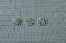 画像2: 15個セット!幅1.6cm小花のケミカルモチーフ 水色 アクセサリーレース (2)