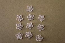 画像4: 15個セット!幅1.2cm小花柄ケミカルモチーフ ピンク アクセサリーレース (4)