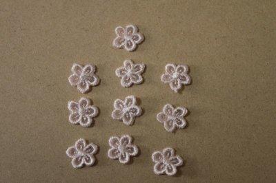 画像2: 15個セット!幅1.2cm小花柄ケミカルモチーフ ピンク アクセサリーレース