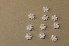 画像5: 20個セット!幅1.1cm小花のケミカルモチーフ ピンク アクセサリーレース (5)