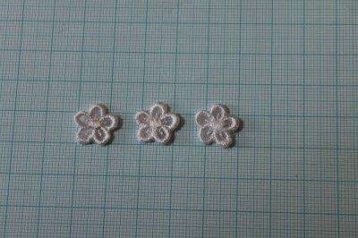 画像1: 15個セット!幅1.2cm小花柄ケミカルモチーフ ピンク アクセサリーレース