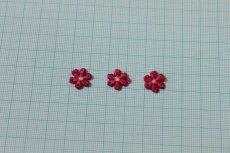 画像2: 15個セット!幅1.2cm小花のケミカルモチーフ レッド アクセサリーレース (2)