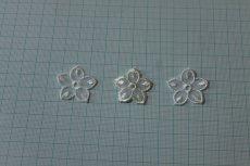 画像2: 12個セット!幅3cmお花のチュールモチーフ オフホワイト (2)