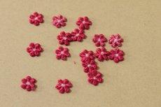 画像4: 15個セット!幅1.2cm小花のケミカルモチーフ レッド アクセサリーレース (4)