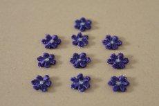 画像5: 15個セット!幅1.1cm小花のケミカルモチーフ パープル アクセサリーレース (5)