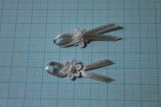 画像3: 10個セット!幅4cmリボンと小花ケミカルレースのモチーフ ハンドメイドに (3)
