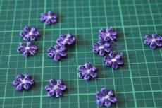 画像6: 15個セット!幅1.1cm小花のケミカルモチーフ パープル アクセサリーレース (6)