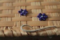 画像3: 15個セット!幅1.1cm小花のケミカルモチーフ パープル アクセサリーレース (3)