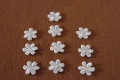 画像2: 20個セット!幅1.2cm小花のケミカルモチーフ 桜色 アクセサリーレース