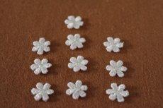 画像3: 15個セット!幅1.2cm小花のケミカルモチーフ 桜色 アクセサリーレース (3)