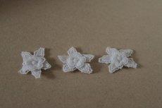 画像5: 150円!5個組!幅3cm2段のお花ケミカルレースモチーフ ホワイト (5)